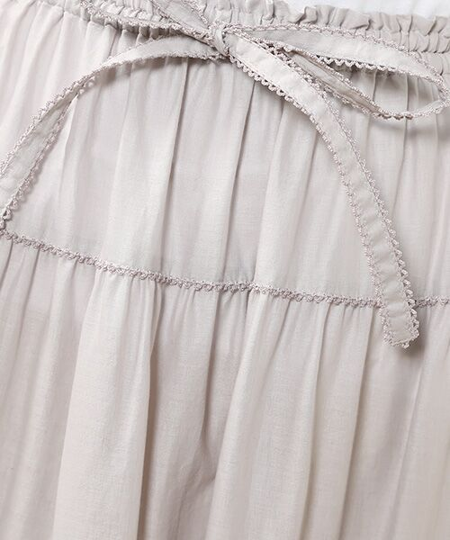 PINK HOUSE / ピンクハウス ロング・マキシ丈スカート | リボン使いローンスカート | 詳細10