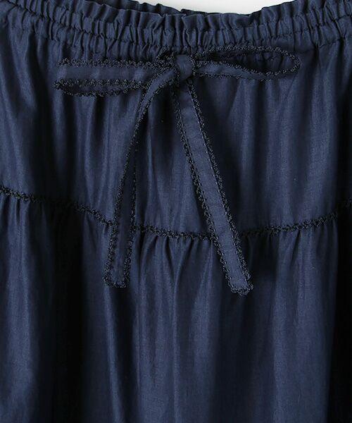 PINK HOUSE / ピンクハウス ロング・マキシ丈スカート | リボン使いローンスカート | 詳細13