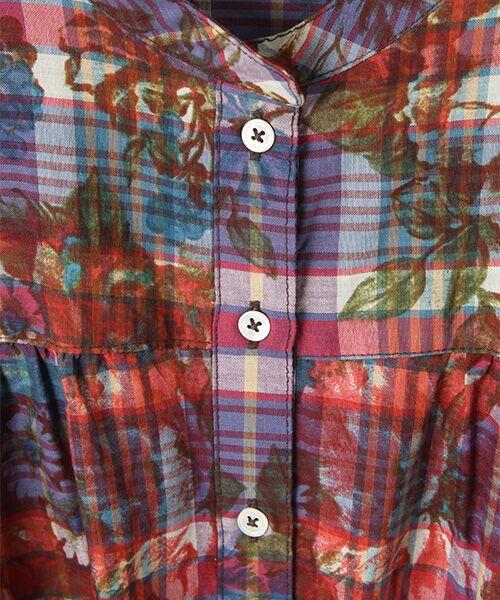 PINK HOUSE / ピンクハウス ロング・マキシ丈ワンピース | チェック×花柄プリントワンピース | 詳細1