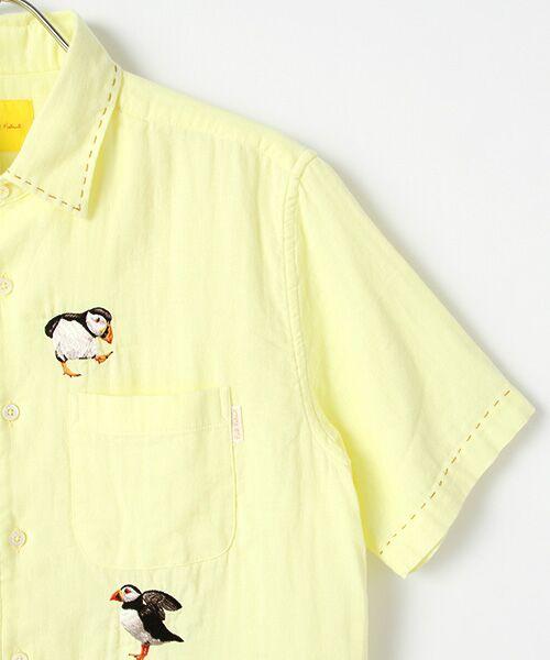 PINK HOUSE / ピンクハウス シャツ・ブラウス   マンボウ&パフィン刺繍ブラウス   詳細2