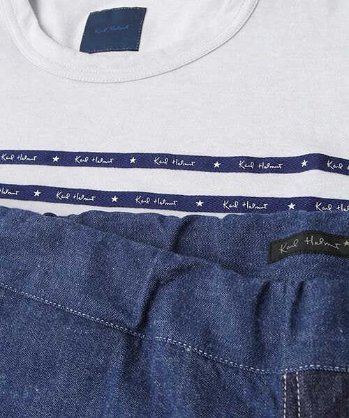 PINK HOUSE / ピンクハウス Tシャツ   セルビッチテープ使いTシャツ&パッチワーク使いハーフパンツセット   詳細2