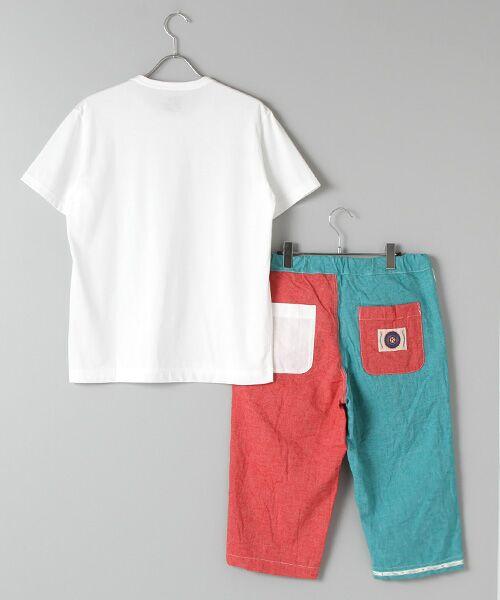 PINK HOUSE / ピンクハウス Tシャツ   セルビッチテープ使いTシャツ&パッチワーク使いハーフパンツセット   詳細3