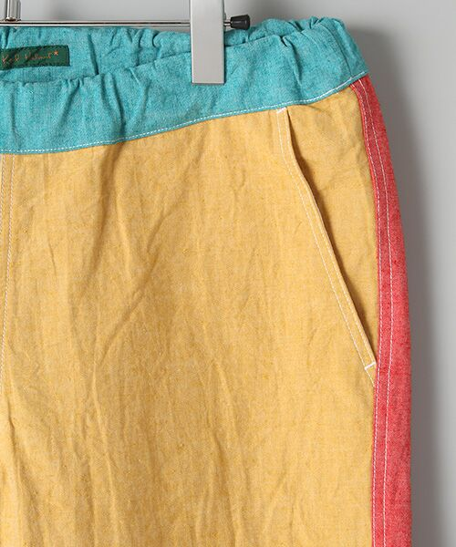 PINK HOUSE / ピンクハウス Tシャツ   セルビッチテープ使いTシャツ&パッチワーク使いハーフパンツセット   詳細6