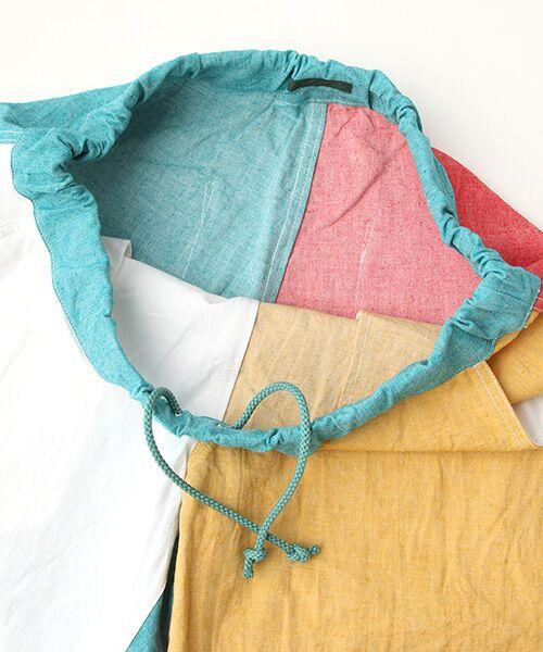 PINK HOUSE / ピンクハウス Tシャツ   セルビッチテープ使いTシャツ&パッチワーク使いハーフパンツセット   詳細8