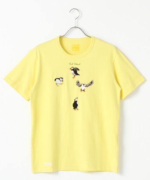 PINK HOUSE / ピンクハウス Tシャツ | マンボウ&パフィン刺繍Tシャツ(イエロー)
