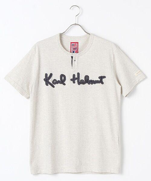 PINK HOUSE / ピンクハウス Tシャツ | ロゴサガラワッペンTシャツ(オートミール)