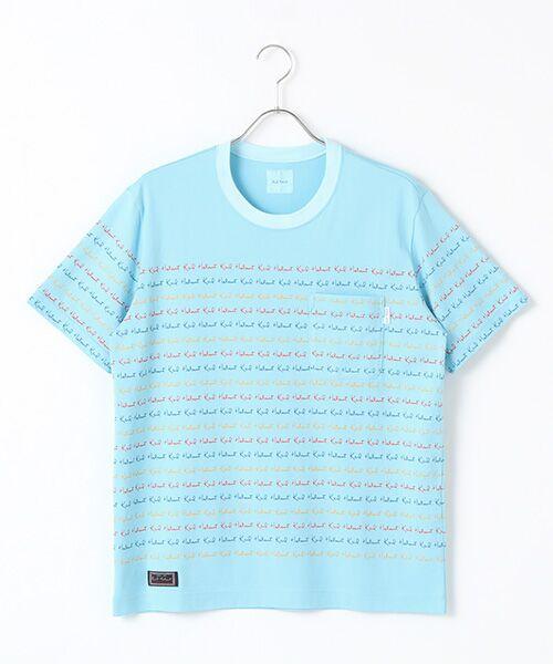 PINK HOUSE / ピンクハウス Tシャツ | キャンディーロゴプリントTシャツ(ブルー)