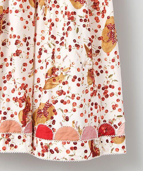 PINK HOUSE / ピンクハウス ロング・マキシ丈ワンピース | チェリーと帽子プリントパッチワークワンピース | 詳細4