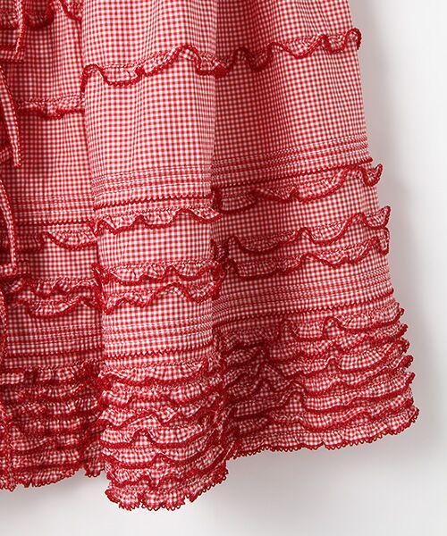 PINK HOUSE / ピンクハウス ロング・マキシ丈スカート | リボン使いギンガムチェックスカート | 詳細4