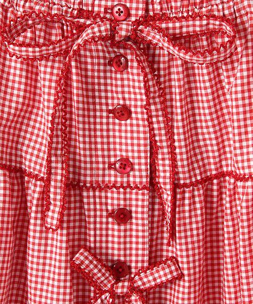 PINK HOUSE / ピンクハウス ロング・マキシ丈スカート | リボン使いギンガムチェックスカート | 詳細6
