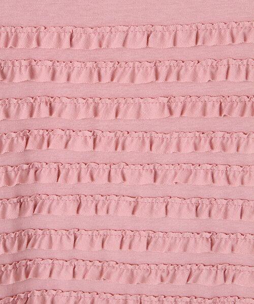 PINK HOUSE / ピンクハウス チュニック | フリル使いカットソーチュニック | 詳細2