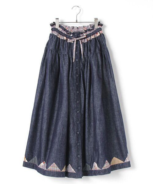 ネルパッチワーク風スカート