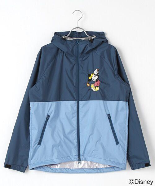 刺繍入りフードブルゾン/ミッキーマウス