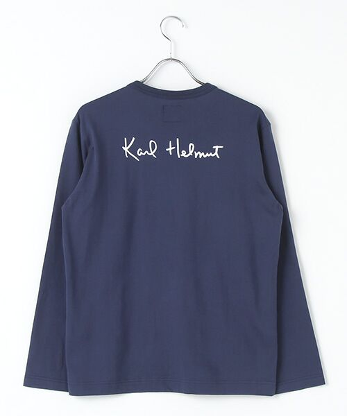 PINK HOUSE / ピンクハウス Tシャツ | カールヘルムロゴプリント長袖Tシャツ | 詳細3