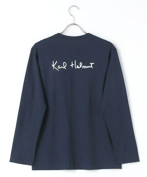 PINK HOUSE / ピンクハウス Tシャツ | シルエットカールくんプリント長袖Tシャツ | 詳細3