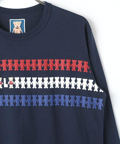 PINK HOUSE / ピンクハウス Tシャツ | シルエットカールくんプリント長袖Tシャツ | 詳細4