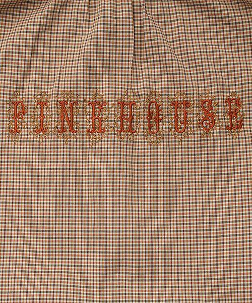 PINK HOUSE / ピンクハウス チュニック | ロゴ刺繍チェックチュニックブラウス | 詳細4