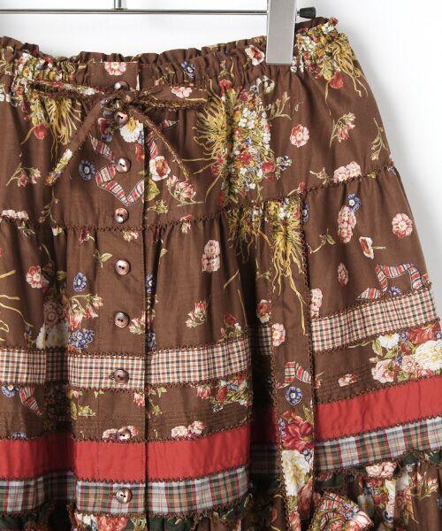 PINK HOUSE / ピンクハウス ロング・マキシ丈スカート | コテージチャームプリントパッチワークスカート | 詳細3