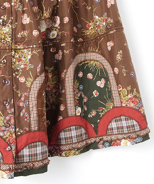 PINK HOUSE / ピンクハウス ロング・マキシ丈スカート | コテージチャームプリントパッチワークスカート | 詳細4