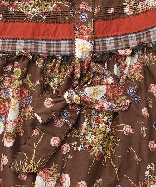 PINK HOUSE / ピンクハウス ロング・マキシ丈スカート | コテージチャームプリントパッチワークスカート | 詳細6