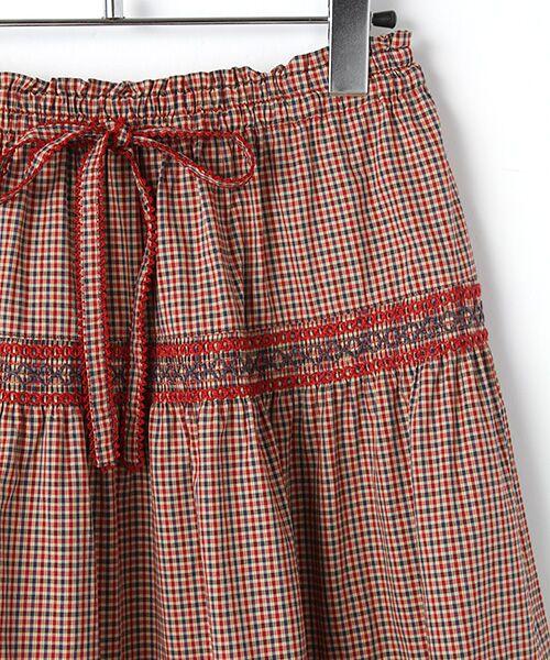 PINK HOUSE / ピンクハウス ロング・マキシ丈スカート | スモック刺繍チェックスカート | 詳細2