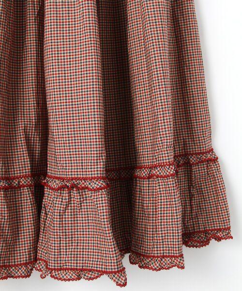 PINK HOUSE / ピンクハウス ロング・マキシ丈スカート | スモック刺繍チェックスカート | 詳細3
