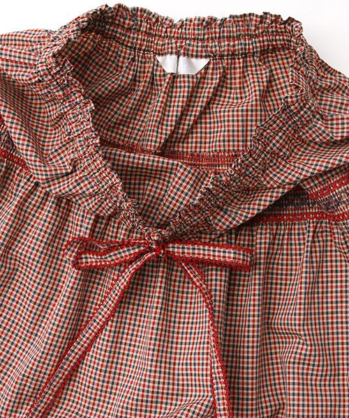 PINK HOUSE / ピンクハウス ロング・マキシ丈スカート | スモック刺繍チェックスカート | 詳細4