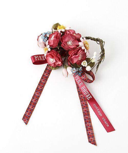 PINK HOUSE / ピンクハウス ブローチ・コサージュ | コテージチャームコサージュ(アカ)