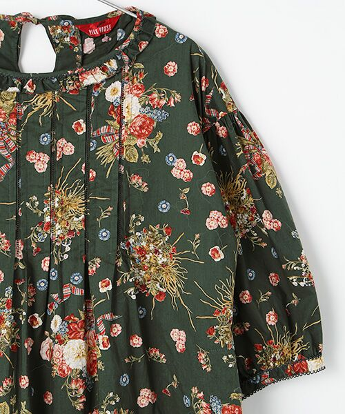 PINK HOUSE / ピンクハウス ロング・マキシ丈ワンピース | コサージュチャームプリントワンピース | 詳細4