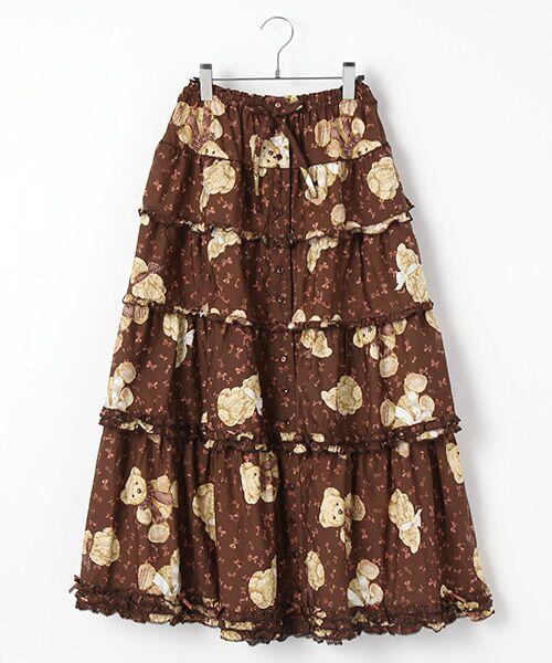 ビターリボンズベアプリントスカート