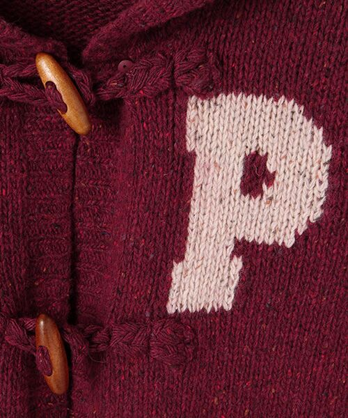 PINK HOUSE / ピンクハウス カーディガン・ボレロ | Pロゴ入りフードニットカーディガン | 詳細5