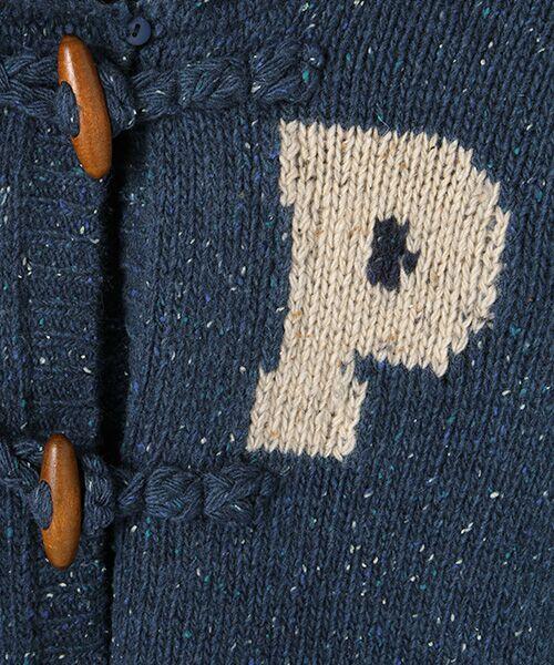 PINK HOUSE / ピンクハウス カーディガン・ボレロ | Pロゴ入りフードニットカーディガン | 詳細7
