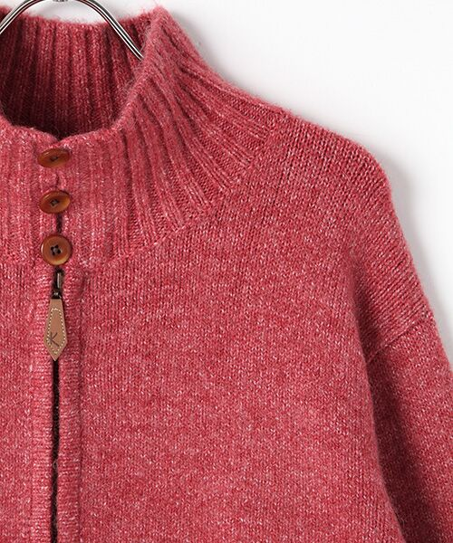 PINK HOUSE / ピンクハウス ニット・セーター | アンダーザグラス刺繍ジップアップニット | 詳細2