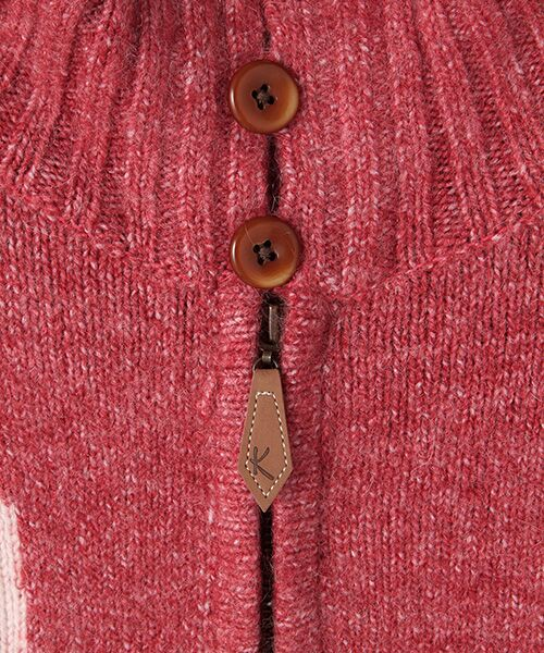 PINK HOUSE / ピンクハウス ニット・セーター | アンダーザグラス刺繍ジップアップニット | 詳細4