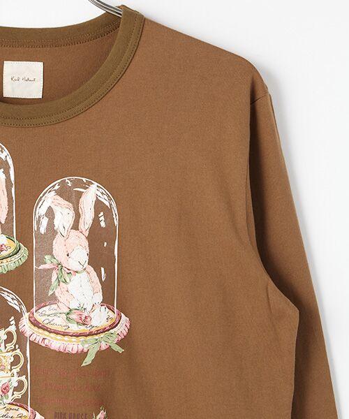 PINK HOUSE / ピンクハウス Tシャツ | アランダーザグラスプリント長袖Tシャツ | 詳細3