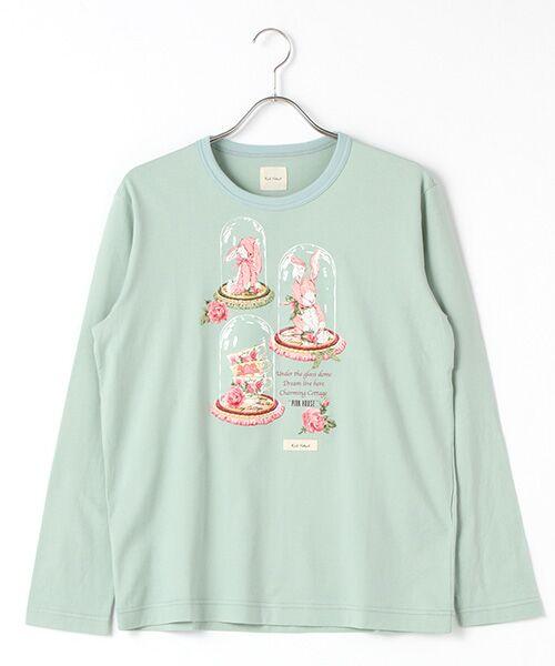 PINK HOUSE / ピンクハウス Tシャツ | アランダーザグラスプリント長袖Tシャツ(ハッカ)