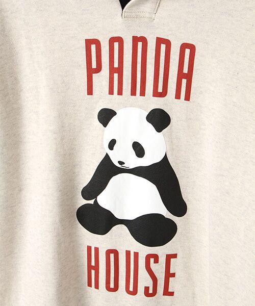 PINK HOUSE / ピンクハウス スウェット | PANDA HOUSEプリントフード付きトレーナー | 詳細1
