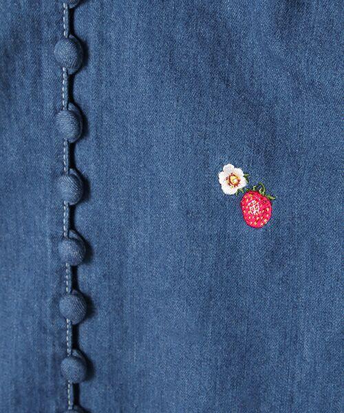 PINK HOUSE / ピンクハウス シャツ・ブラウス | キャラクター&モチーフワンポイント刺繍デニムブラウス | 詳細2