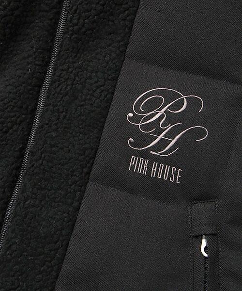 PINK HOUSE / ピンクハウス ダウンジャケット・ベスト | ロゴ刺繍入りレイヤード風ダウンハーフコート | 詳細1