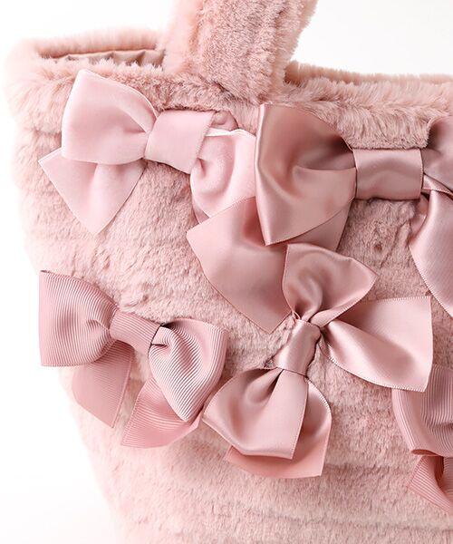 PINK HOUSE / ピンクハウス ハンドバッグ | リボン使いフェイクファーバッグ | 詳細6