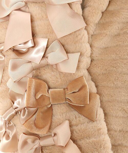 PINK HOUSE / ピンクハウス マフラー・ショール・スヌード・ストール   リボン使いフェイクファーマフラー   詳細4