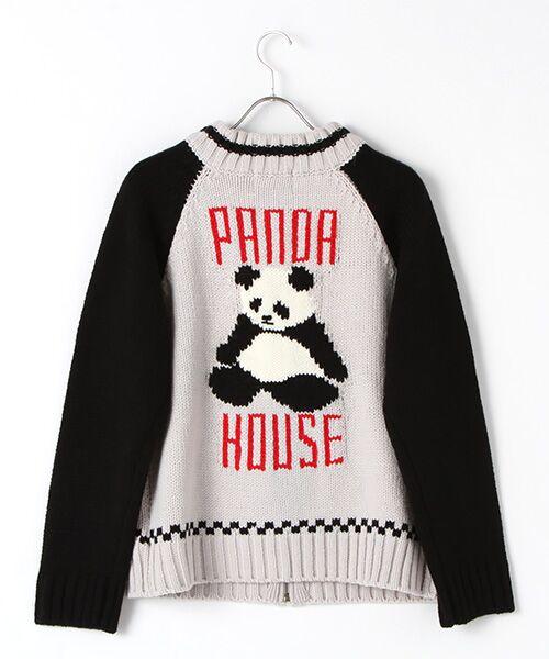 PINK HOUSE / ピンクハウス ブルゾン | パンダハウスジップアップニットブルゾン | 詳細1