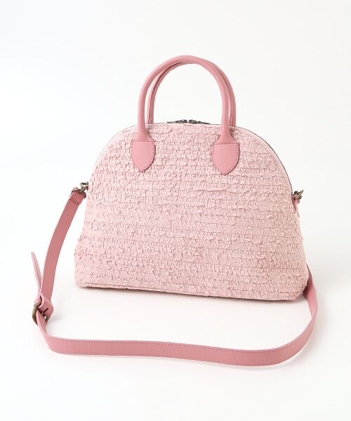 《NEW》ピコフリルいっぱい、ピンクハウスらしい上品でエレガントなバッグ。