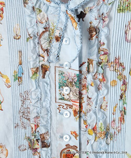 PINK HOUSE / ピンクハウス ロング・マキシ丈ワンピース | ピーターラビット(TM)プリントワンピース | 詳細8