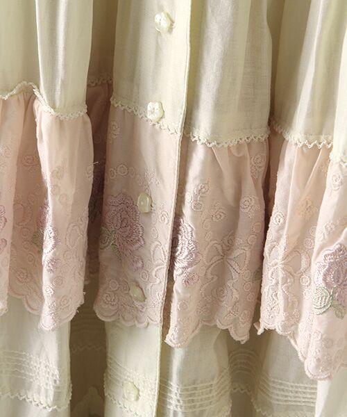 PINK HOUSE / ピンクハウス ロング・マキシ丈スカート | ローズレースフリルスカート | 詳細1