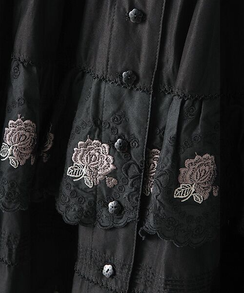 PINK HOUSE / ピンクハウス ロング・マキシ丈スカート | ローズレースフリルスカート | 詳細6