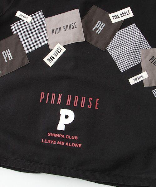 PINK HOUSE / ピンクハウス パーカー | ギンガムアップリケパーカー | 詳細1