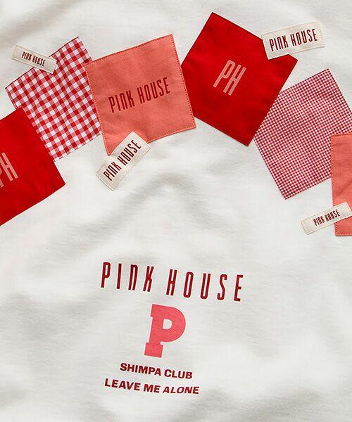 PINK HOUSE / ピンクハウス パーカー | ギンガムアップリケパーカー | 詳細7