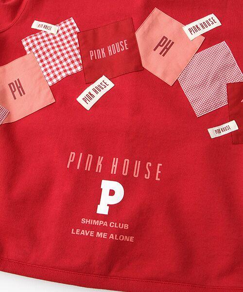 PINK HOUSE / ピンクハウス パーカー | ギンガムアップリケパーカー | 詳細8