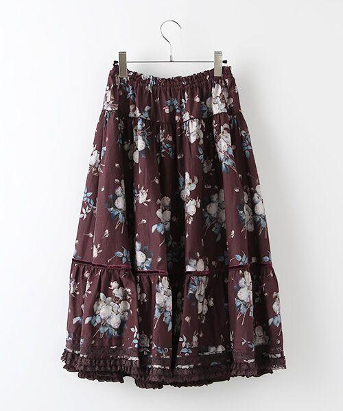 PINK HOUSE / ピンクハウス ロング・マキシ丈スカート | ルドゥーテ ブーケ柄スカート | 詳細2